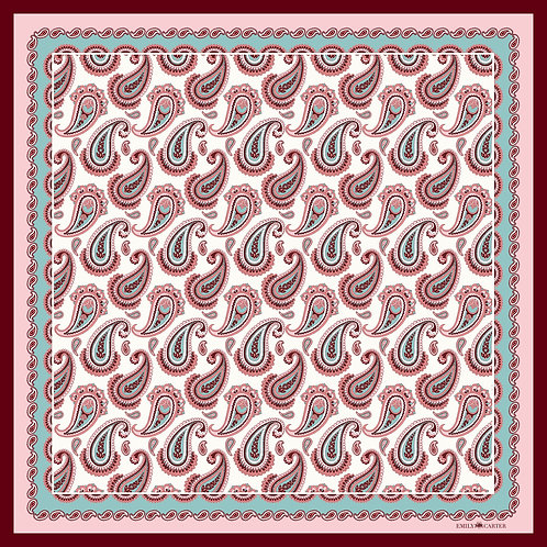 The Paisley Scarf - Pink