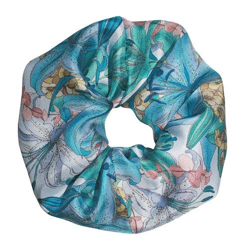 Upcycled Silk Hair Scrunchie - Lily