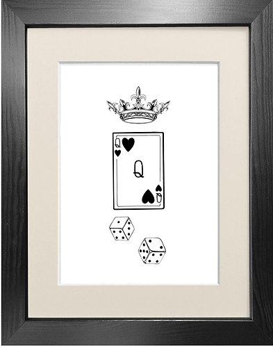 'Queen of Hearts' - Fine Art Print