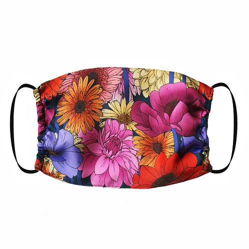 Adjustable Silk Face Mask (Non-Medical) - Dahlia Garden