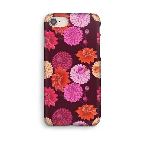 Dahlia Luxury Phone Case - Burgundy