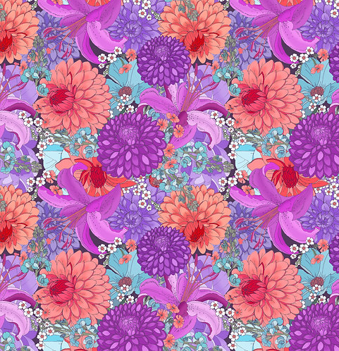 Dahlia Wrapping Paper - Violet