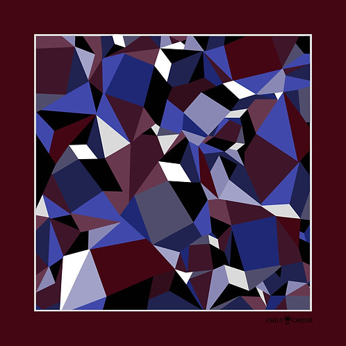 The Prism Pocket Square - Burgundy