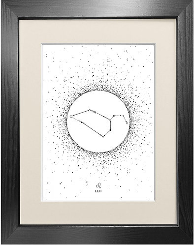 'Leo Star Sign' - Fine Art Print