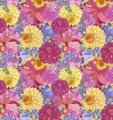 Dahlia Wrapping Paper - Pink