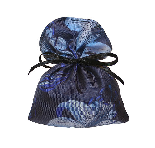 Silk Lavender Bag -Blue Lily