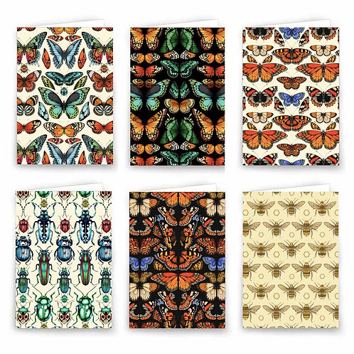 Luxury Greeting Cards  X6 - Insects