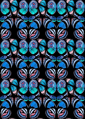 Tropical Butterfly Print - Turquoise