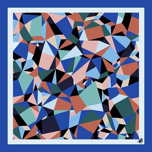 The Spectrum Pocket Square - Cobalt