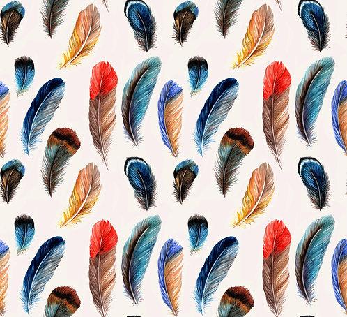 Tropical Bird Plumage Print