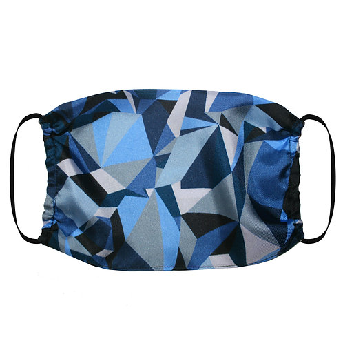 Adjustable Silk Face Mask (Non-Medical) - Geometric
