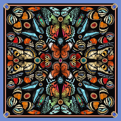 The Jewelled Butterfly Silk Scarf - Large