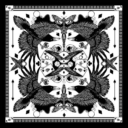 The Joker & Jackdaw Silk Scarf - Limited Edition