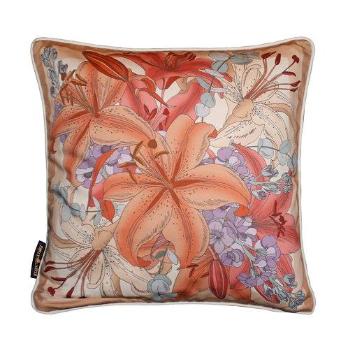 The Lily Bouquet Cushion - Beige 45x45cm