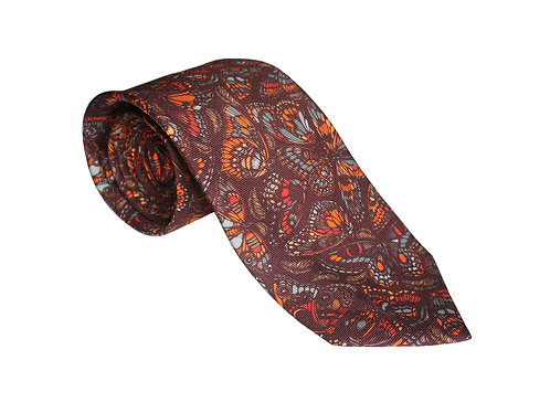 The Tropical Butterfly Tie - Terracotta