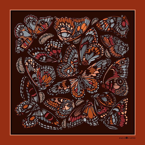 The Tropical Butterfly Neckerchief - Terracotta