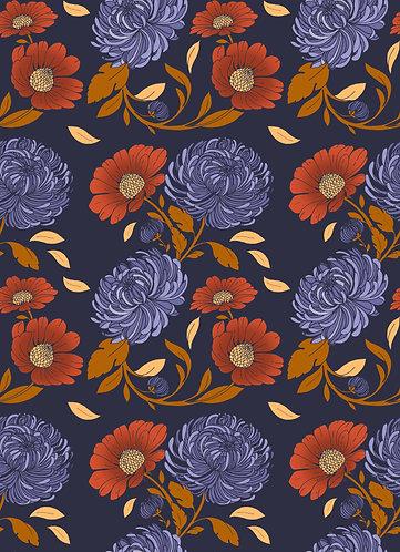 Autumn Daisy Print