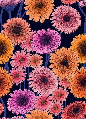 Daisy & Gerbera Print