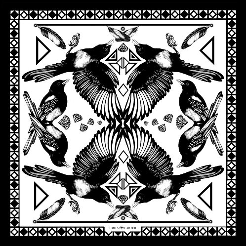 The Mysterious Magpie Silk Scarf