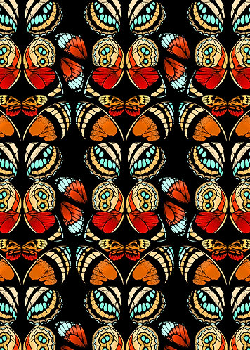 Tropical Butterfly Print - Red