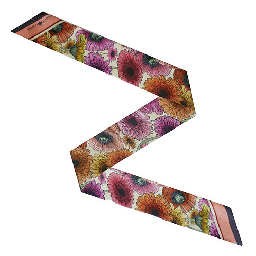 The Pastel Floral Twilly Scarf