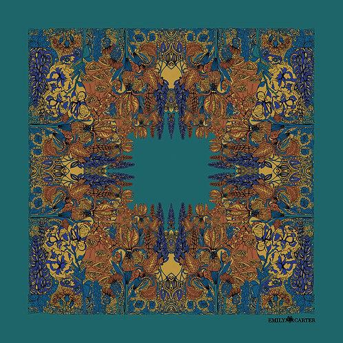 The Floral Pocket Square - Viridian