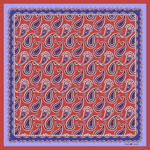 The Paisley Scarf - Cobalt