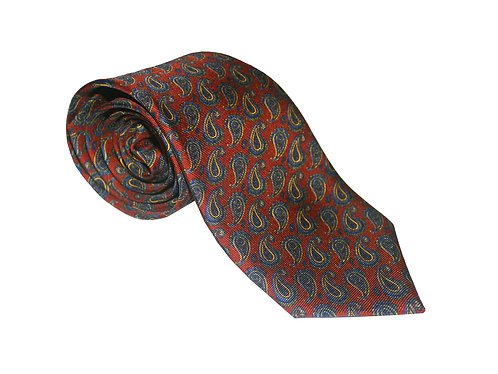 The Paisley Tie - Burgundy