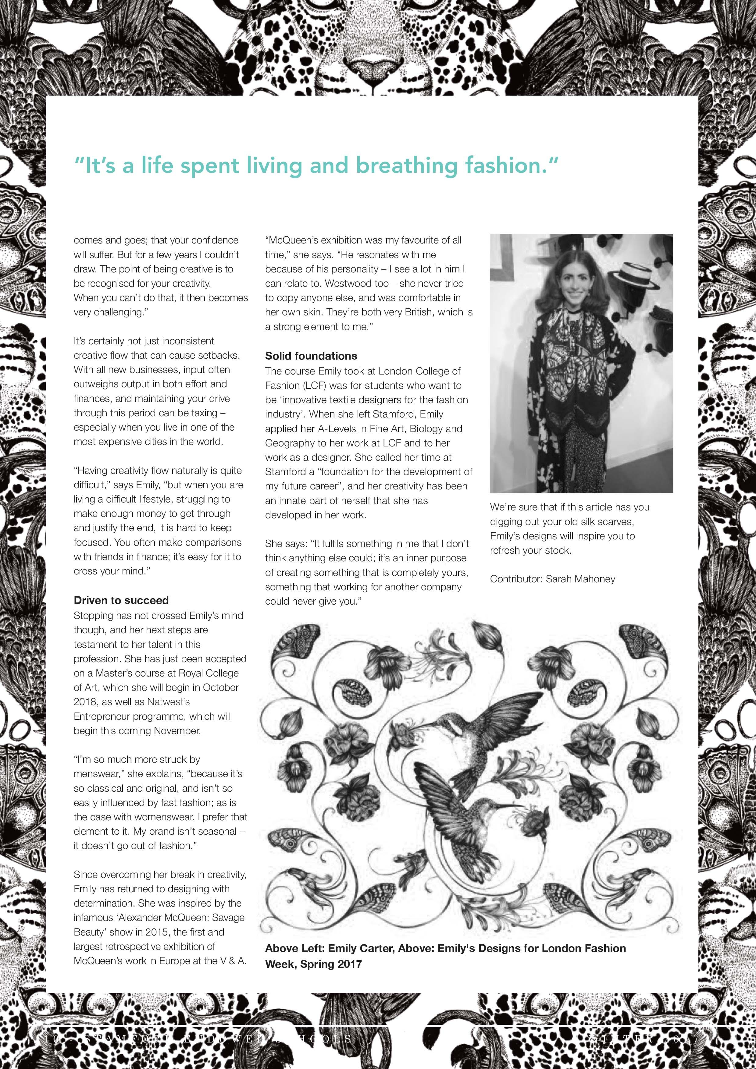 Emily Carter Press Stamford Magazine