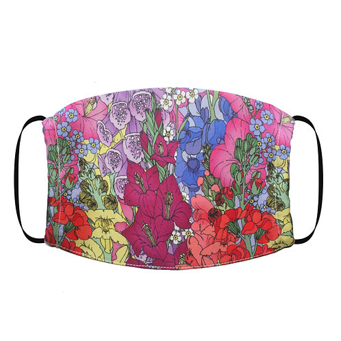 copy of Adjustable Silk Face Mask (Non-Medical) - Flower Garden