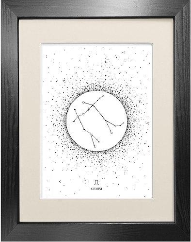 'Gemini Star Sign' - Fine Art Print