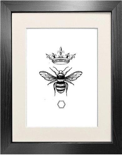 'Honey Queen Bee' Fine Art Print