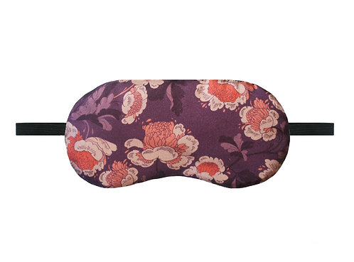 Silk Sleep Mask - Pink Oriental Floral