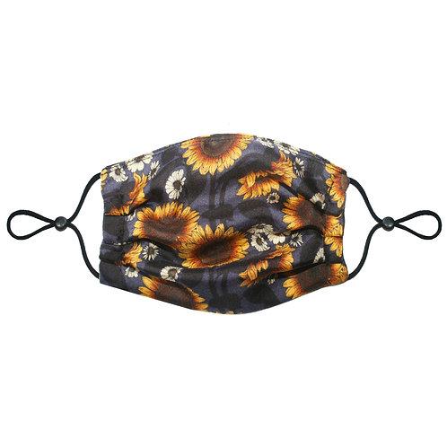 3 Layer Travel Silk Face Mask (Non-Medical) - Sunflower
