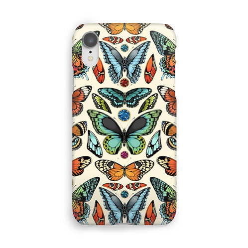Tropical Butterfly Luxury Phone Case - Cream