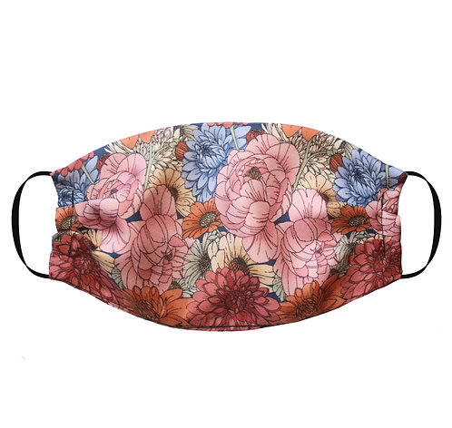 Silk Face Mask with Nose Wire (Non-Medical) - Antique Floral