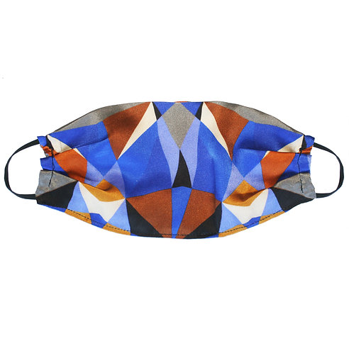Upcycled Silk Face Mask (Non-Medical) - Purple Geometric