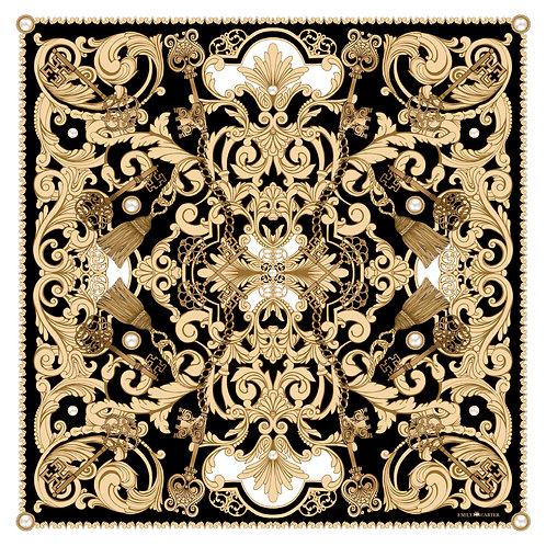 The Pearl Rococo Silk Scarf