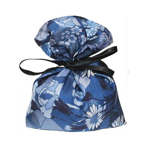 Silk Lavender Bag - Blue Floral