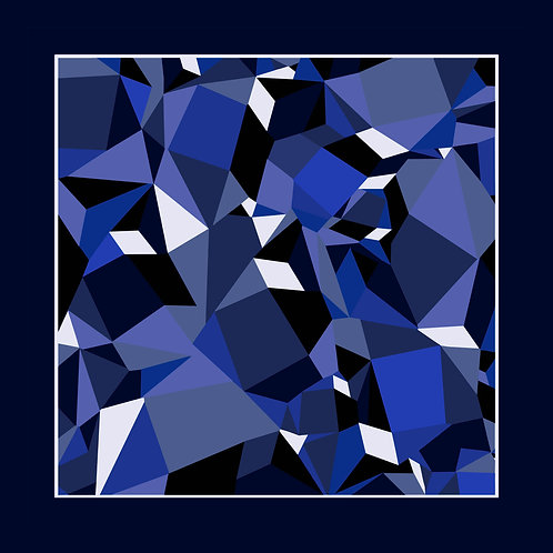 The Prism Pocket Square - Royal Blue