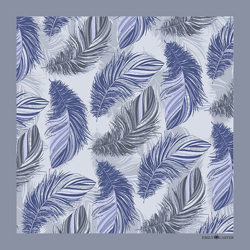 The Feather Pocket Square - Powder Blue