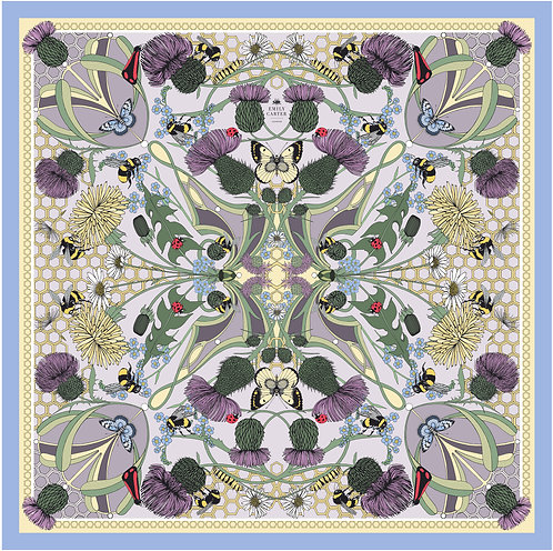 The Honey Bee & Thistle Silk Scarf