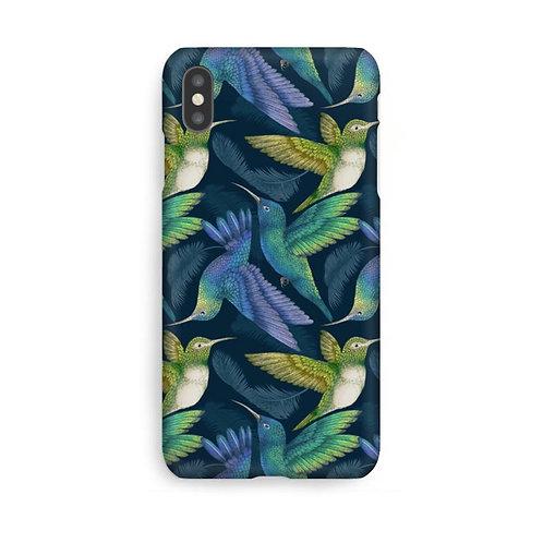 Hummingbirds Navy Luxury Phone Case