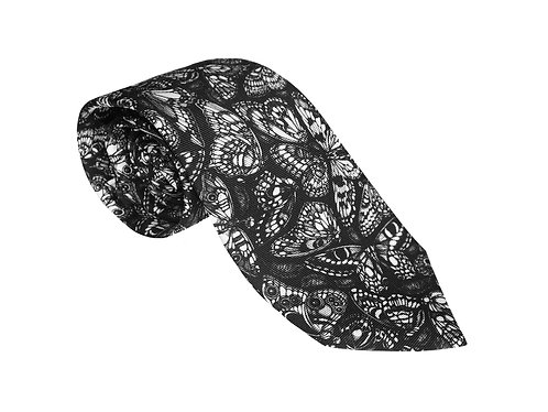 The Tropical Butterfly Tie - Black