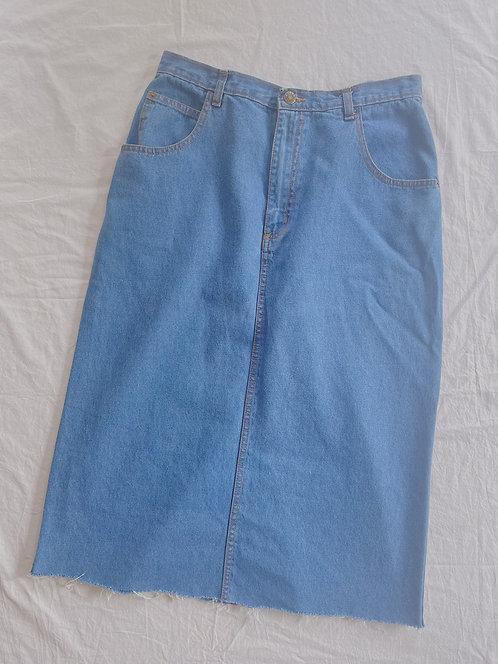 Vintage Midi Jean Skirt (M)