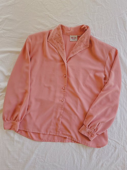 Vintage Rose Long Sleeve Blouse (M)