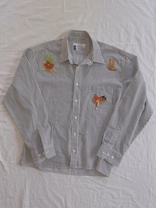 Vintage Western Appliqué Shirt (L)