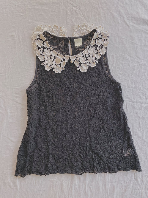 Modern Lace Sheer Top (M)
