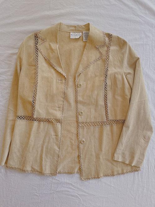 Vintage Nude Leather Jacket (L)