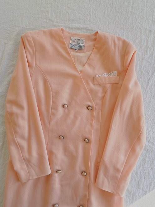 Vintage Pink Blazer Dress (M)